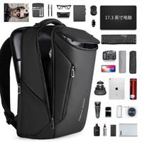 马可莱登(MARK RYDEN)背包男士17.3英寸笔记本电脑包商务双肩包防泼水时尚潮流书包MR9031精英黑升级款