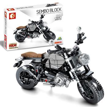 SEMBO BLOCK 森宝积木 机械密码系列 701107 宝玛拿铁摩托车 262颗粒