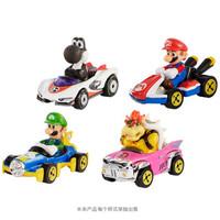 风火轮(HOT WHEELS)男孩合金小车玩具 主题角色款珍藏小车 马里奥经典小车四辆礼盒装 GLN53