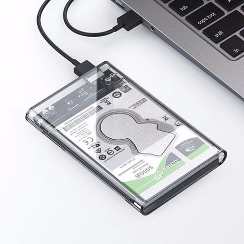白菜党、有券的上:ORICO 奥睿科 2139 2.5寸移动硬盘盒 透明外壳 USB3.0