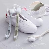 JUKUAI 聚快 素色可挂双头长柄清洁鞋刷 2个装