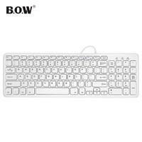 航世(B.O.W)HW156S-A键盘 有线键盘 *2件