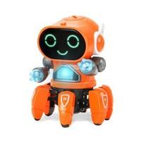 贝利雅 跳舞六爪鱼机器人 橙色电池版