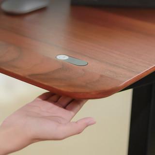 37度 DSK021 手势升降办公桌套装 胡桃木实木贴面