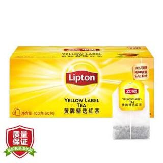 Lipton 立顿 黄牌精选红茶 50包 100g *10件