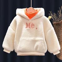 冬季童装新款女童加绒假两件卫衣120
