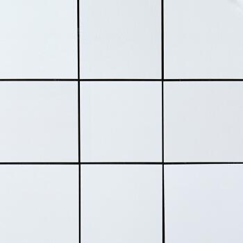 金属铝塑板潮白色自粘厨房瓷砖马赛克吧台装饰电视背景墙贴纸 100白色(耐黄变) 30x30