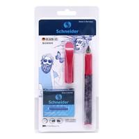 Schneider 施耐德 钢笔+10支蓝墨囊+吸墨器+笔袋 0.5mm F尖 粒子粉卡装