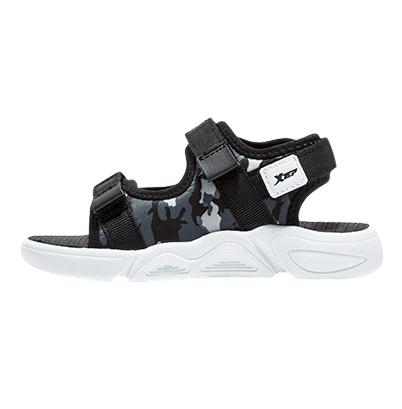 XTEP 特步 男童休闲沙滩凉鞋 680216509690 黑灰色 27码
