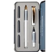 Schneider 施耐德 167801 钢笔 0.5mm 明尖 金色年华白