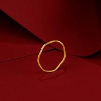 ZLF 周六福  AW015681 女款足金素圈戒指