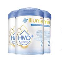Wyeth 惠氏 启赋系列 illuma hmo+幼儿配方奶粉 2段 850g*3罐(6-12个月)海外版