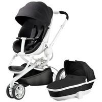 Quinny 婴儿推车自营 宝宝童车 高景观强避震 可坐可躺 便捷时尚 Moodd推车加睡篮套餐 黑色单车+黑色睡篮