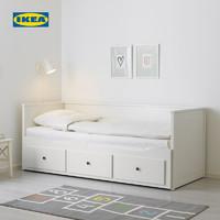 IKEA宜家HEMNES汉尼斯坐卧两用床3抽屉多功能储物床推拉床沙发床