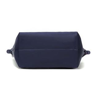 LONGCHAMP 珑骧 Le Pliage系列女士织物长柄可折叠按扣式手提单肩包1899 619 556 海军蓝色大号