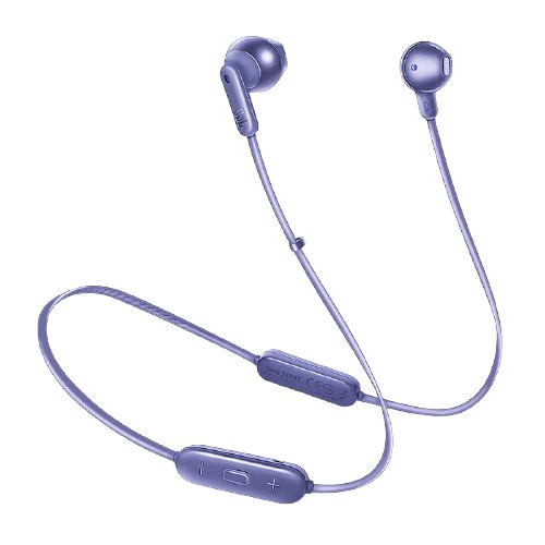 JBL 杰宝 TUNE215BT 半入耳式颈挂式蓝牙耳机 丁香紫