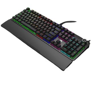 HP 惠普 K10G 机械键盘+掌托 104键 黑轴 黑色