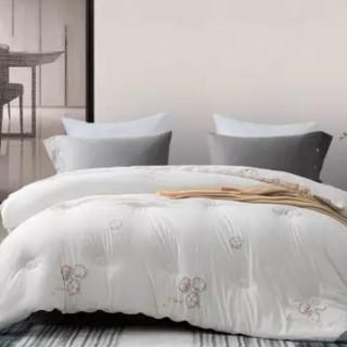hommy 佳佰 被子被芯 新疆棉被春秋被 100%新疆精梳全棉花被棉絮四季棉花胎垫被白色-6斤  200*230cm