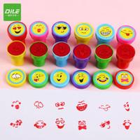 DiLe 递乐 2703 幼儿园卡通鼓励学生印章 大脸表情12枚装  *5件