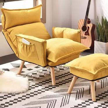 hommy 佳佰 单人布艺沙发 含脚凳 升级款