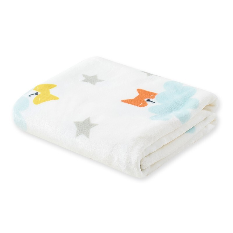goodbaby 好孩子 MQ2033S009 婴儿法兰绒毛毯 150*120cm 浅蓝