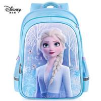迪士尼(disney)书包小学生女孩 4-6年级儿童书包 冰雪奇缘2女童双肩背包 FP8263B 蓝色