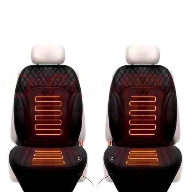 CarSetCity 卡饰社 座椅加热+座椅按摩坐垫 天鹅绒双座