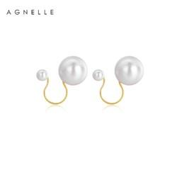 AGNELLE  女款珍珠U型耳夹