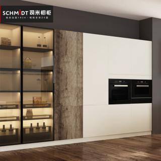 索菲亚司米厨柜 双城系列套餐 现代简约时尚3D米耐板厨房装修整体橱柜 厨房储物柜3米台面地柜1米吊柜 3米套餐