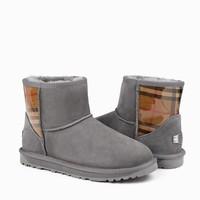 OZWEAR UGG 女士英伦格子 雪地靴