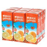 限地区: 果满乐乐(gomolo)100%橙汁 小瓶装纯果汁饮料 250ml*9盒 *6件