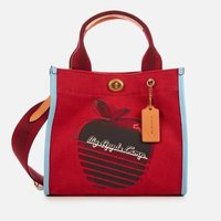 Coach 1941 Women's Retro Big Apple Camp Canvas Tote Bag 22 - Red Apple