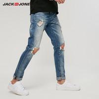 5日0点:JACK JONES 杰克琼斯 219132603 男士破洞牛仔裤