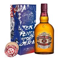 芝华士(Chivas)洋酒 12年 苏格兰 威士忌 1000ml 冠军装 保乐力加