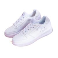 361° 女士运动板鞋 682036619F-5 361度白/苍野灰 36