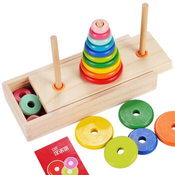 京东PLUS会员:丹妮奇特 十层汉诺塔男孩儿童早教益智玩具叠叠高女孩积木拼图3-6-9-12生日礼物 *2件