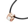 I Do BOOM瓷系列 P00210 女士18K金钻石皮绳项链 皮绳42cm/白陶