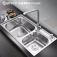 Superte 舒美特 304不锈钢厨房水槽双槽 77*45cm