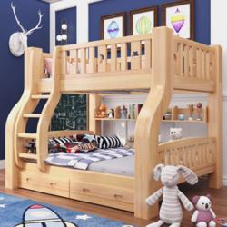 喜挚加厚实木子母床双层床两层上下床成人高低床儿童床成人母子床
