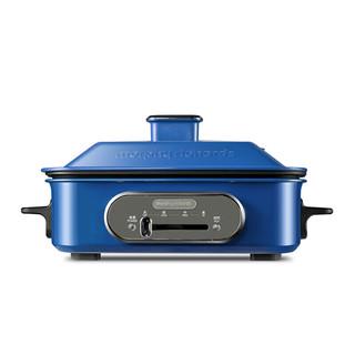 摩飞(Morphyrichards)MR9088多功能锅料理锅 电烧烤锅电火锅烧烤炉家用电蒸锅 地中海蓝
