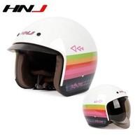 HNJ 白色音乐 摩托车头盔