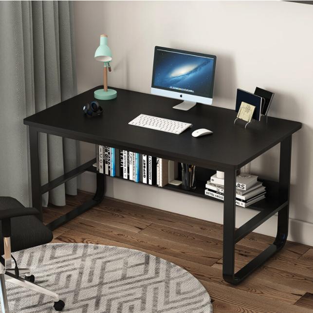 JIAJIALIN 佳家林 佳家林电脑桌家用办公学习桌子 黑柳木色+黑架100*60*72cm