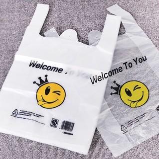 洋航 笑脸背心塑料袋 20*32cm 50个