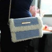 手工編織diy包包材料包冰條毛線鉤針網格自制斜跨包送閨蜜女友包