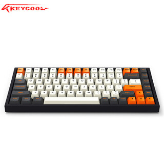 keycool/凯酷 大碳配色 84键无线机械键盘 RGB蓝牙办公有线键盘 笔记本便携蓝牙迷你小键盘 84大碳正刻RGB灯-蓝牙+有线版 BOX茶轴