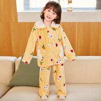 小熊传说 儿童珊瑚绒睡衣
