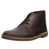 Clarks 其乐 Bushacre 2男士复古圆头系带马丁皮革短靴26082286 蜂蜡棕8 M US