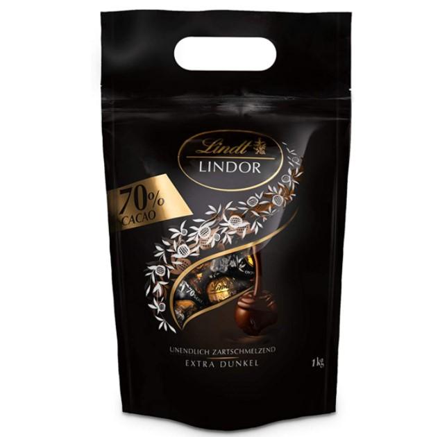 Lindt 瑞士莲 Lindor软心系列 70% 特浓黑巧克力球 1kg