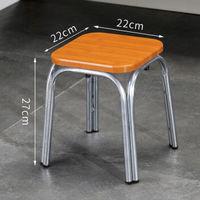 莱杉 家用小板凳圆板凳(竹节木板26cm高)