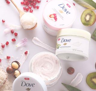 Dove 多芬 身体磨砂膏系列奇异果和芦荟风味冰淇淋身体磨砂膏 298g*2